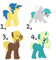 MLP - Moustache Pony Adopts! - OPEN! by cheesepuff2