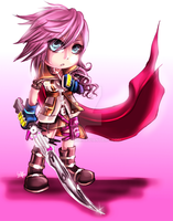 FF13: Chibi Lightning by DarkLitria