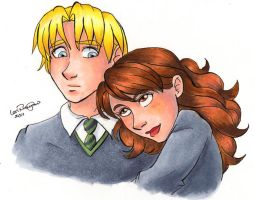 Draco and Hermione - A Hug by irishgirl982