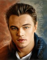 Leonardo DiCaprio Hand-Painted Digital Portrait by shierly85