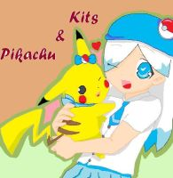 Kits and Pikachu by KitsPokePeople