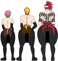 [YAOI] Bleach x Fairy Tail Erotic Backs by Superjustinbros