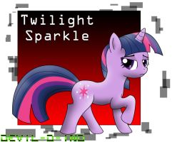 Twilight Sparkle is not impressed by Devil-D-IND