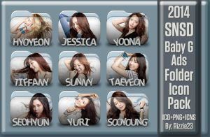 2014 SNSD Baby G Ads Folder Icon Pack by Rizzie23