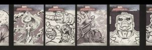 Marvel Sketch Cards Set 2 of 5 by soliton