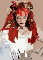 Emilie Autumn WIP by fruzsi222