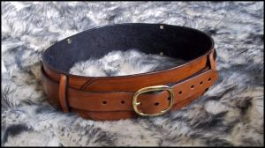 Leather Utility Belt by SteamViking