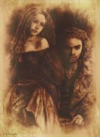 Antiqued Desperate Romantics: Lizzy and Gabriel by SHParsons