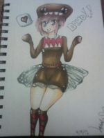 My Oc cosplaying as Domo by SaiChansArt