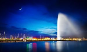 Geneva's Blue Hour by Timosaby