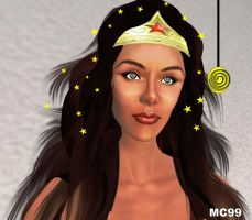Wonder Woman's Hypnotized Eyes by The-Mind-Controller