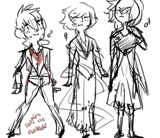 Preview of some more single gijinka's by Megane-Pigeon
