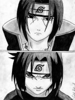 Naruto - Itachi and Sasuke Uchiha by stcc7sixty