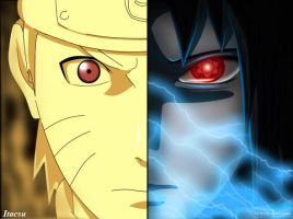 Naruto vs Sasuke by uchiha-sharingan