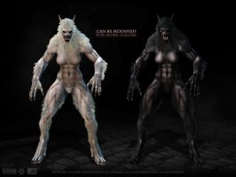 The Female Lycanthrope skin packs at second life by bradyrichie