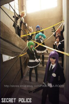 VOCALOID Secret Police2 by PIKAPIKAROOM