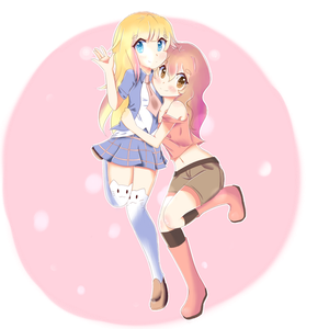 [Collab] Lexi and Fee by Cuppycakiie