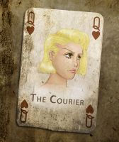 Fallout: NV - The Courier by zombie-jill
