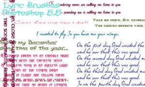Lyric-y Brushes by amara1679