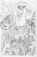 Santa vs Zombies!!! by c-crain