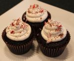 Holiday Chocolate Pepperment Crunch Cupcake by Deathbypuddle