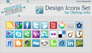 Social icons pack 3 by olybop