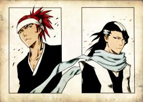 Renji and Byakuya by EgoTastikk