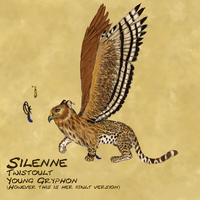 Silenne Reference Sheet by cybershadowmoon