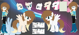 Ponysona: Starlight Jennace Reference Sheet by Dash-of-L0YALTY