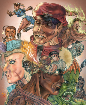 Street Fighter 4 Collage by Yashirou