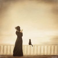 The girl and cat by FFrederik