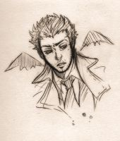 castiel first try sketch by XMenouX