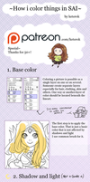 How i color things in SAI - tutorial by keterok