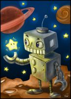 Robot in Space by shtibel