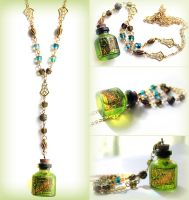 GIVEAWAY Absinthe Necklace by asunder