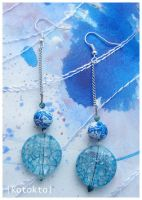 Aquarelle earrings by kotokto