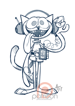 Throwback Thursday Redraw - Cafeteria Cat by AdriOfTheDead