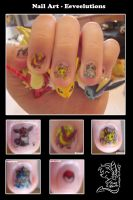 nail art - eeveelutions by mr-tiaa