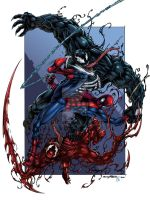 Venom vs Spidey vs Carnage colors by spidey0318