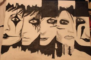 Black Veil Brides Canvas Painting. by itsliss