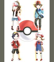 Pokemon Trainers Chibis by Akimiya