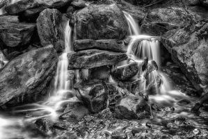 Stacked Rocks BW by mjohanson
