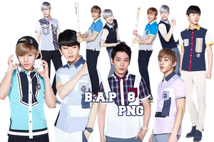 B.A.P's PNG Pack {ShoolookS} by kamjong-kai