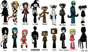 ALL ORIGINAL CHARACTERS (WIP) by BoomBuzz