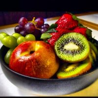 Bowl of fruit by DjhannaS