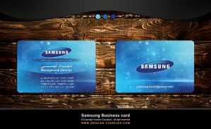Samsung business card by arsalan-design