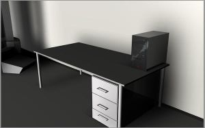 Desk and PC by JDLuxe
