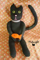 Midnight the sock kitty by Mab-overthrown