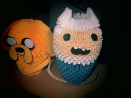 Adventure Time Finn and Jake by deerexx