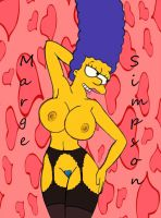Marge In Black is bushy by Comon99
